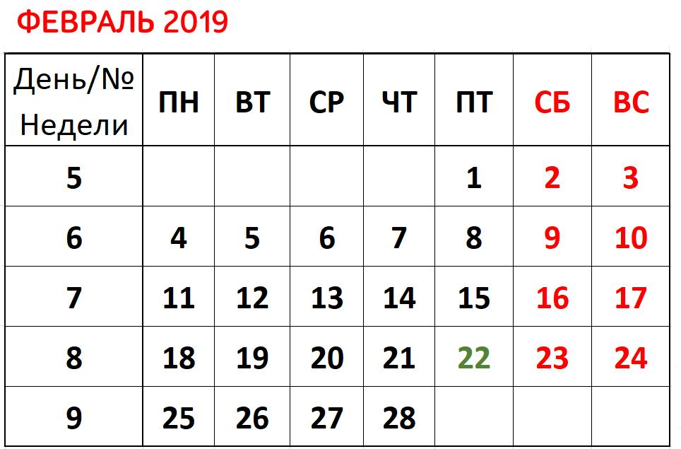 Как отдыхали в феврале 2019